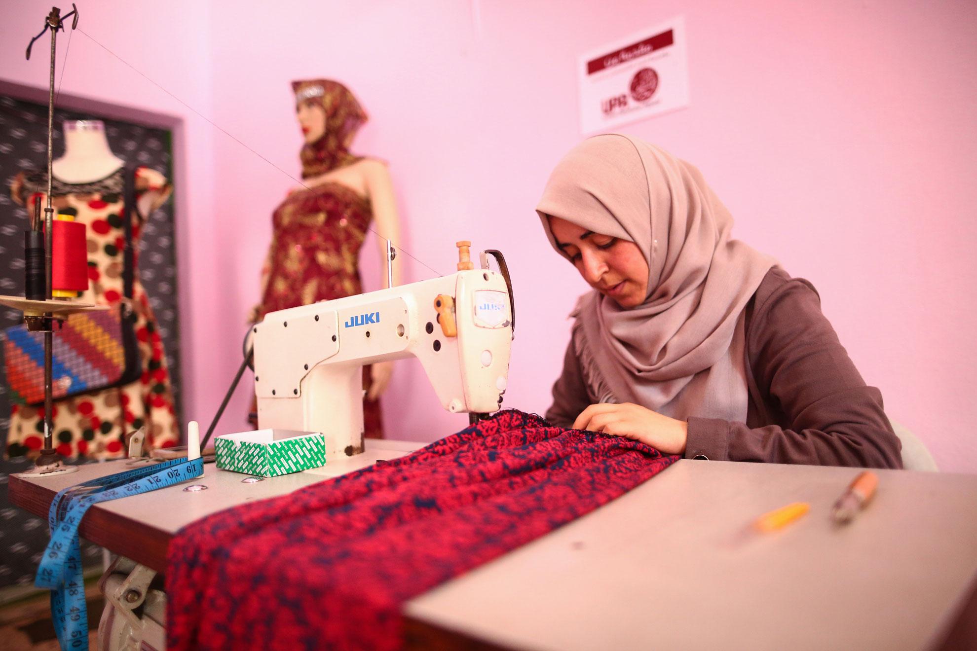 Shifa is a tailor in Gaza.