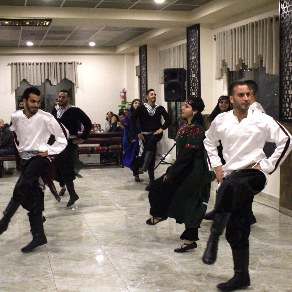 Dabke dancers in the West Bank.
